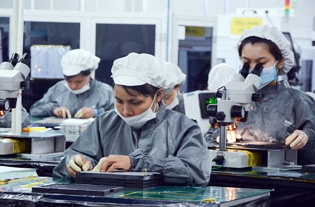 Sản xuất linh kiện điện tử tại Công ty CP công nghệ Namuga