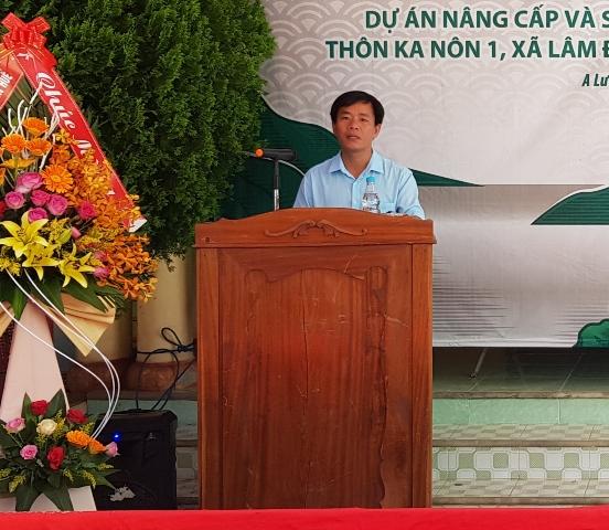 Ông Nguyễn Văn Phương- PCT UBND tỉnh TT Huế phát biểu tại lễ khởi công