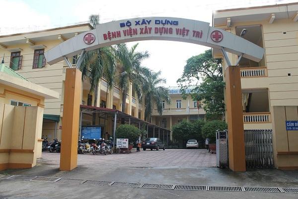 Hình ảnh Bệnh viện Xây Dựng Việt Trì nhìn từ ngoài vào