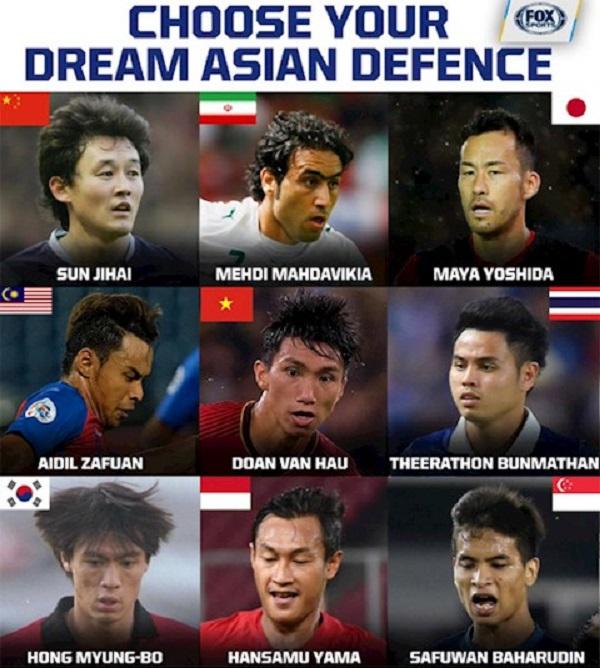 Văn Hậu lọt Top 9 hậu vệ châu Á theo bình chọn của FOX Spors Asia