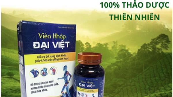Viên khớp Đại Việt được quảng cáo như thuốc chữa bệnh trên một số websit