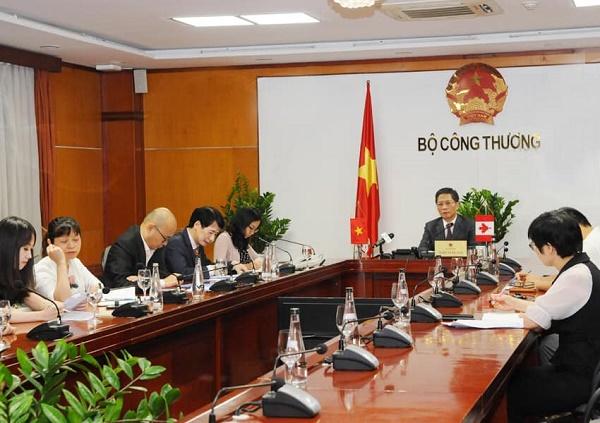 cuộc họp trực tuyến giữa Bộ trưởng Bộ Công Thương Trần Tuấn Anh và Bộ trưởng phụ trách Thương mại quốc tế, Xúc tiến xuất khẩu và Doanh nghiệp nhỏ Mary Ng