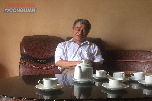 Ông Hoằng Văn Thiêm, phó Chủ tịch UBND xã Tiến Lộc trả lời PV về vụ việc