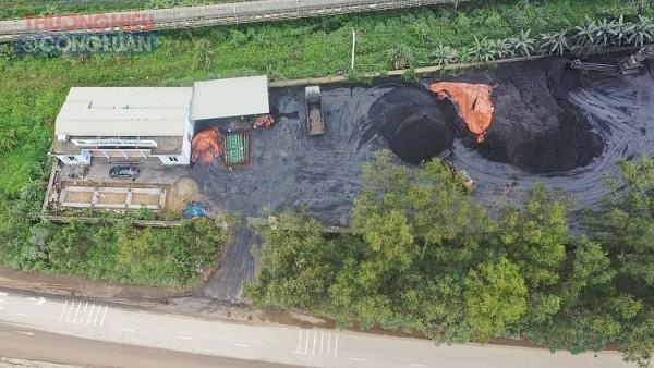 Cơ sở chế biến than trái mục đích, không thủ tục về môi trường của Công ty than Thanh Hóa tại phường Đông Sơn (Bỉm Sơn, Thanh Hóa)