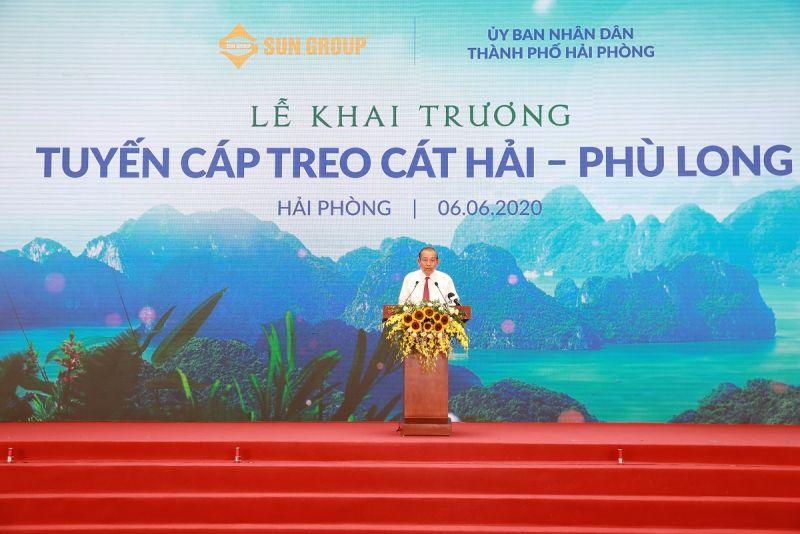Phó Thủ tướng Thường trực Chính Phủ Trương Hòa Bình phát biểu tại Lễ khai trương 2