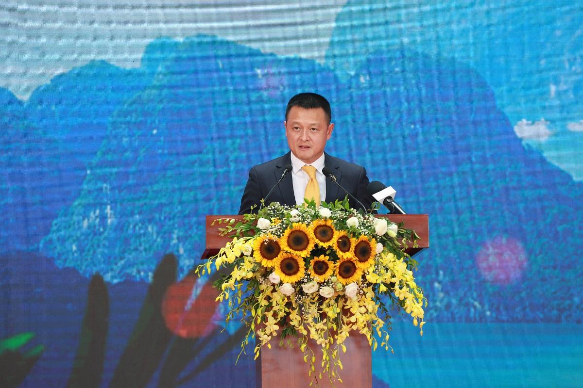Ông Đặng Minh Trường- Chủ tịch HĐQT Sun Group phát biểu tại Lễ khai trương