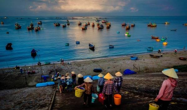 Cảnh sắc tuyệt đẹp của làng chài Mũi Né