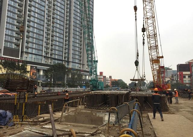 Thi công dự án đường sắt đô thị Nhổn - Ga Hà Nội