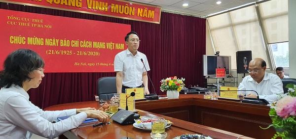 Cục trưởng Cục Thuế Hà Nội, Mai Sơn thông tin đến các cơ quan báo chí