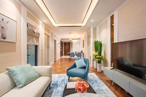 King Palace hoàn thiện cả tầng căn hộ thực tế để khách hàng tham quan và trải nghiệm