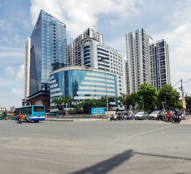 Hinode City nằm tại vị trí huyết mạch giao thông quận Hai Bà Trưng. Ảnh: Trọng Bằng