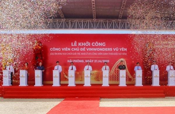 Thủ tướng Nguyễn Xuân Phúc nhấn nút khởi công xây dựng dự án