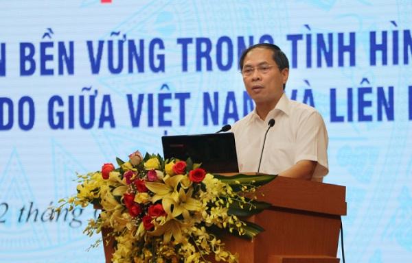 Thứ trưởng Thường trực Bộ Ngoại giao Bùi Thanh Sơn phát biểu khai mạc Tọa đàm.