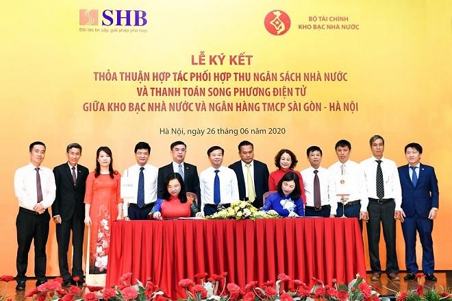 KBNN và SHB ký kết thỏa thuận hợp tác phối hợp thu NSNN và thanh toán song phương điện tử