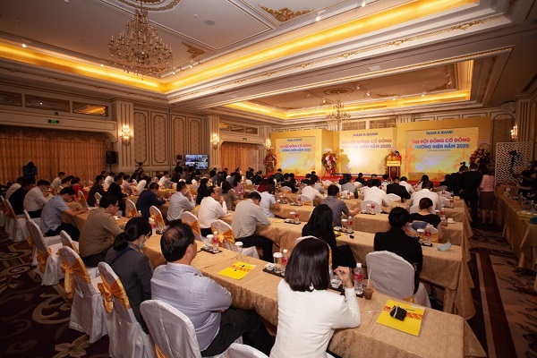 Đại hội đồng cổ đông năm 2020 của Nam A Bank. (Ảnh: Báo Đầu tư)