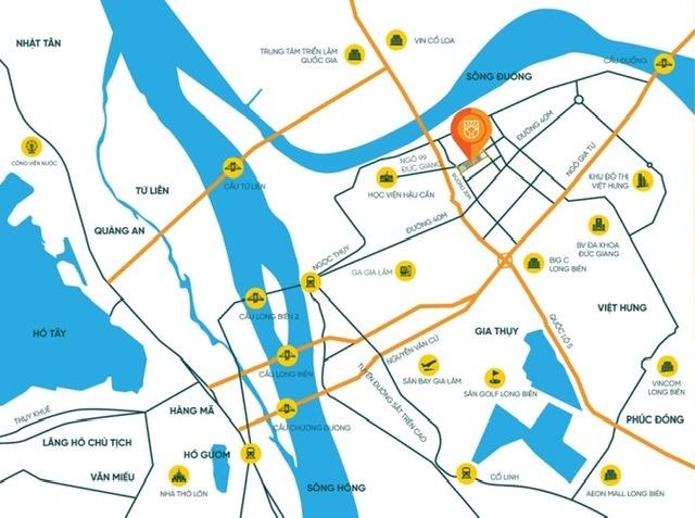Chung cư Bình Minh Garden sở hữu vị trí đắc địa, trung tâm mới quận Long Biên