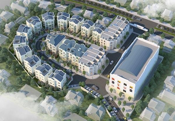 Phối cảnh tổng thể dự án Melinh Plaza Yên Bái