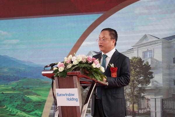 Ông Nguyễn Cảnh Hồng, đại diện đơn vị phát triển và chủ đầu tư phát biểu khai mạc Lễ khởi công