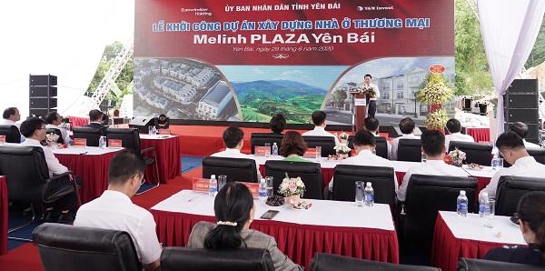 Đồng chí Đỗ Đức Duy – Phó Bí thư Tỉnh ủy, Chủ tịch UBND tỉnh Yên Bái phát biểu tại buổi Lễ khởi công