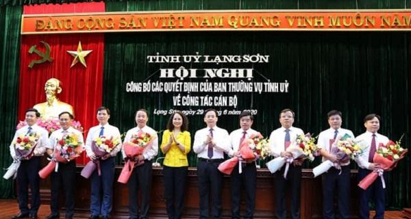Ban Thường vụ Tỉnh ủy Lạng Sơn công bố các quyết định về công tác cán bộ