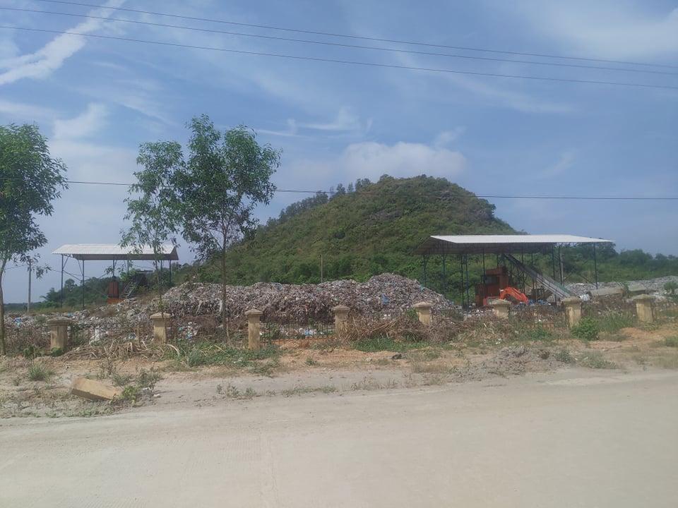 Một số hạng mục tại dự án xử lý rác thải tại bãi rác Núi Voi