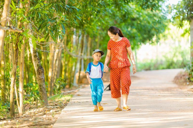 Gia đình chị Vương rất quan tâm đến việc học tập của con và ủng hộ chương trình Sữa học đường