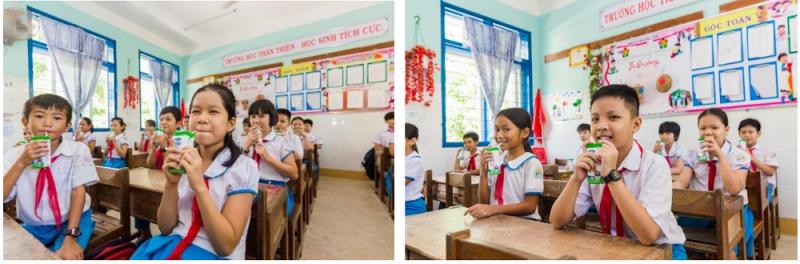 Chương trình Sữa học đường mong muốn mang đến niềm vui cho các em học sinh.