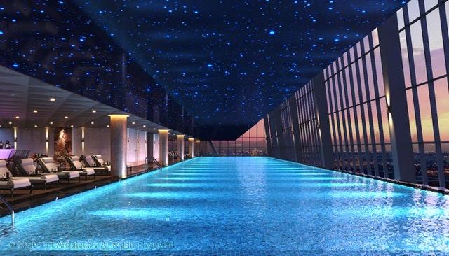 """Cảm xúc về """"ốc đảo"""" sang trọng – Bể bơi bốn mùa view panorama"""