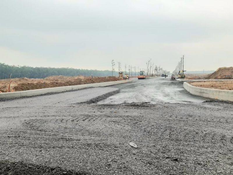 Hoạt động xây dựng rầm rộ tại dự án khi chưa được cơ quan chức năng cấp phép