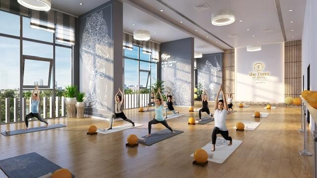 Phòng tập yoga là một trong những tiện ích cao cấp đặc biệt tại The Terra – An Hưng