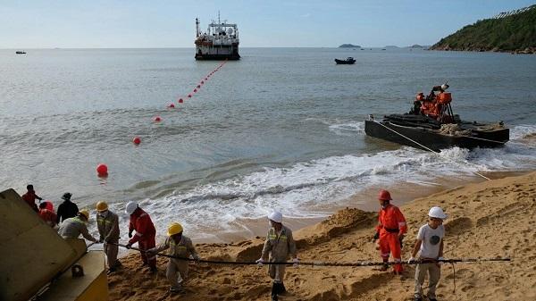VNPT đang hoàn thiện xây dựng trạm cập bờ mới tại Quy Nhơn (Ảnh: VGP/Cao Hưng)