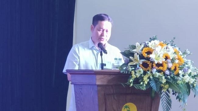 Phạm Nguyên Hồng – Giám đốc Sở VH,TT&DL Thanh Hóa phát biểu tại buổi lễ.