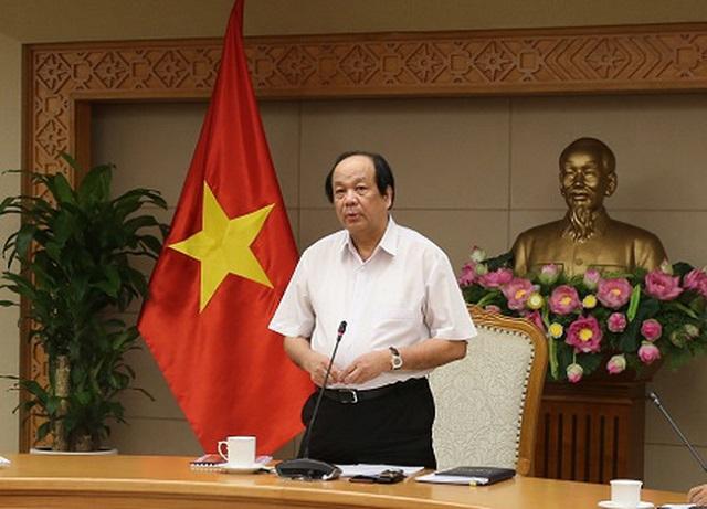 Bộ trưởng, Chủ nhiệm Văn phòng Chính phủ Mai Tiến Dũng phát biểu tại cuộc họp