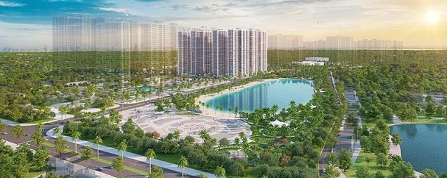 Imperia Smart City sở hữu vị trí đắc địa trong đại đô thị nằm sát công viên và hồ trung tâm