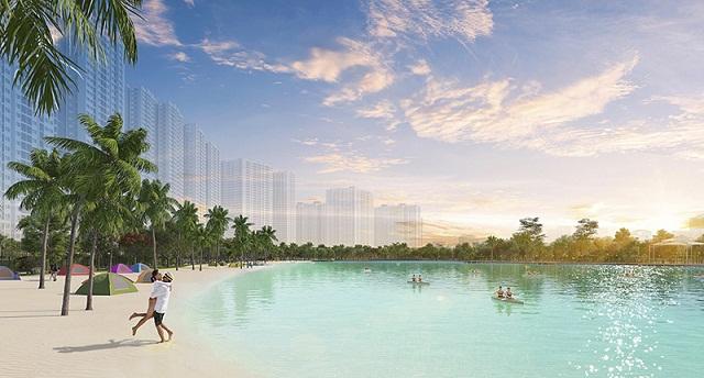 Hồ trung tâm nằm liền kề Imperia Smart City