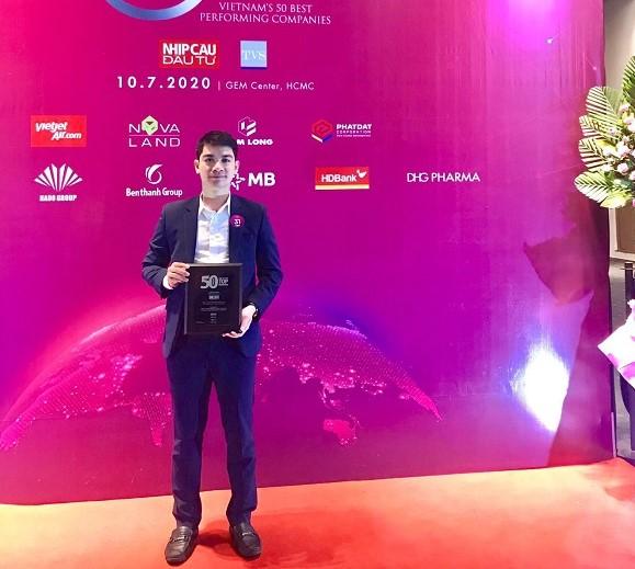 Đây là năm thứ 2 Tập đoàn CEO được vinh danh Top 50 công ty kinh doanh hiệu quả nhất Việt Nam