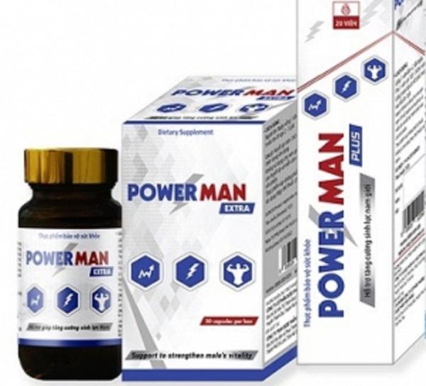 Sản phẩm thực phẩm bảo vệ sức khỏe Powerman Plus quảng cáo vi phạm quy định