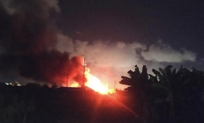 Cháy lớn tại công ty TNHH gỗ Hoa Đại