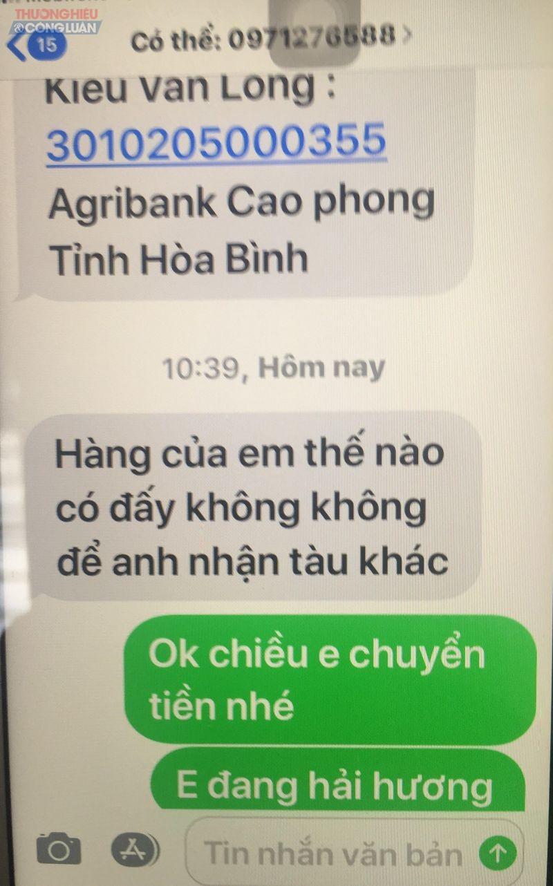 Thông tin về việc mua bán đất mà phóng viên trao đổi với người tên Kiều Văn Long
