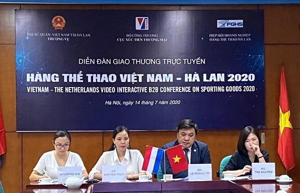 Diễn đàn giao thương trực tuyến hàng thể thao Việt Nam - Hà Lan 2020