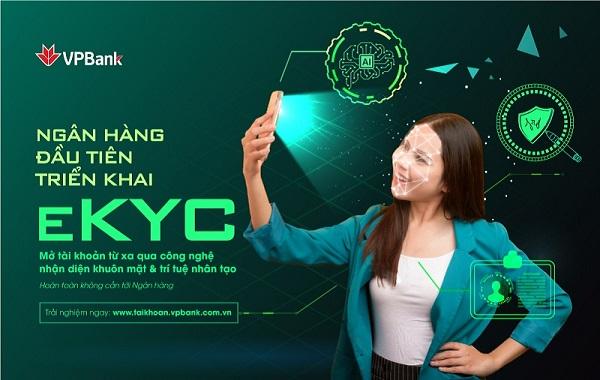 VPBank là ngân hàng đầu tiên triển khai eKYC – định danh khách hàng trực tuyến
