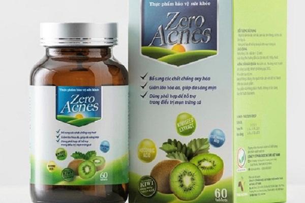 Sản phẩm thực phẩm bảo vệ sức khỏe Zero Acnes quảng cáo sai sự thật