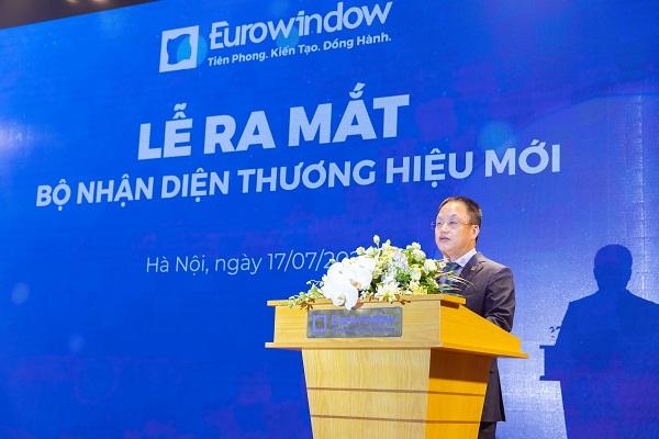 Ông Nguyễn Cảnh Hồng - Tổng giám đốc Eurowindow phát biểu tại buổi lễ.