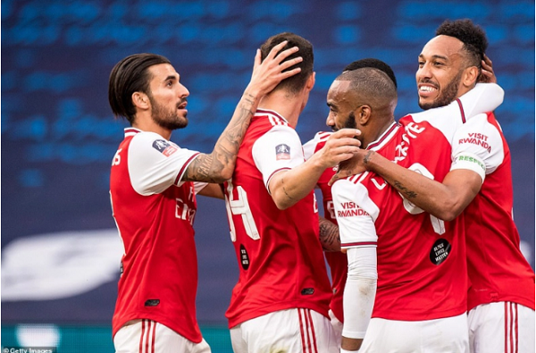 Aubameyang lập cú đúp giúp Arsenal hạ Man City để tiến vào chung kết FA Cup 2019/20