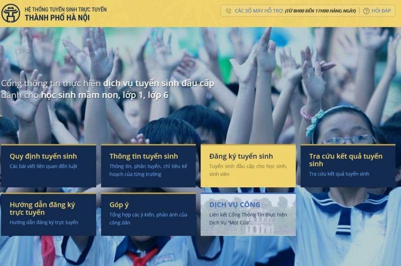 Hà Nội thử nghiệm đăng ký tuyển sinh trực tuyến