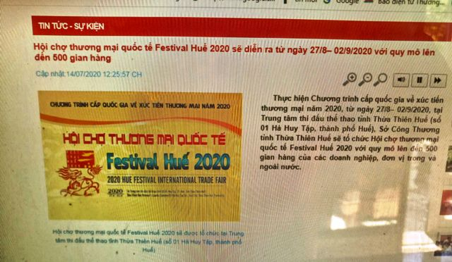 Hội chợ Festival Huế 2020 là Festival quốc tế?