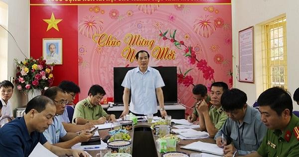 Phó chủ tịch UBND tỉnh Lạng Sơn, Dương Xuân Huyên phát biểu tại buổi kiểm tra