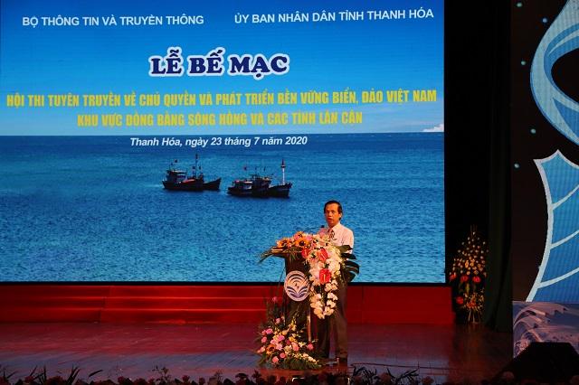 Ông Nguyễn Văn Tạo, Cục Trưởng cục Thông tin cơ sở , Bộ Thông tin và Truyền thông phát biểu bế mạc