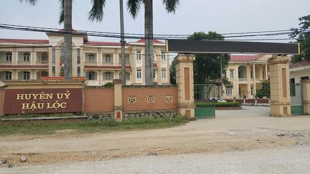 Trụ sở Huyện ủy Hậu Lộc, tỉnh Thanh Hóa.