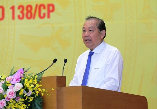 Phó Thủ tướng Thường trực Chính phủ, Trương Hòa Bình phát biểu chỉ đạo tại hội nghị